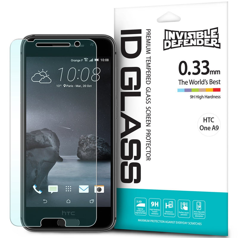 HTC One A9 [INVISIBLE DEFENDER] Tempered Glass Screen Protector