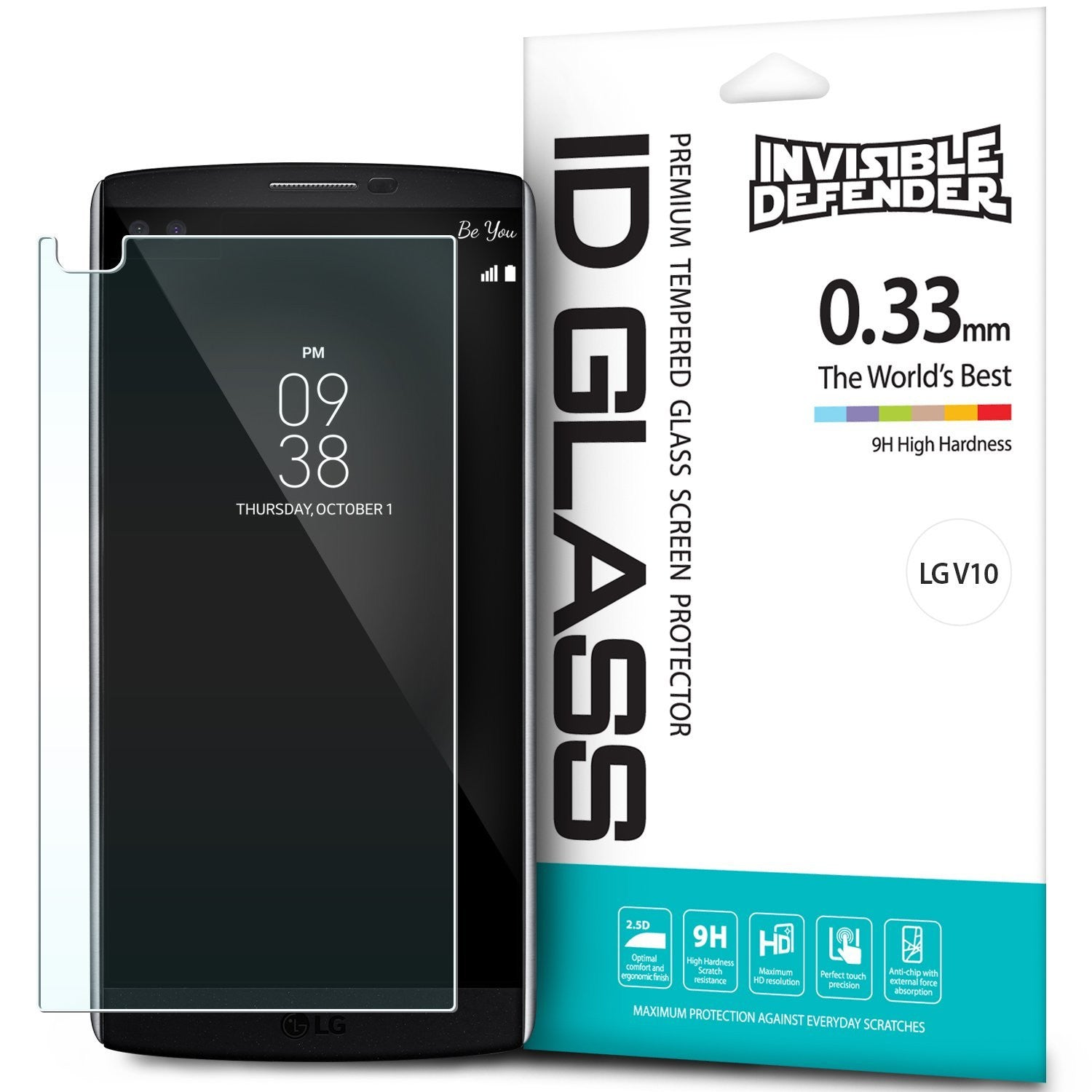 LG V10, Ringke®[INVISIBLE DEFENDER] Tempered Glass Screen Protector