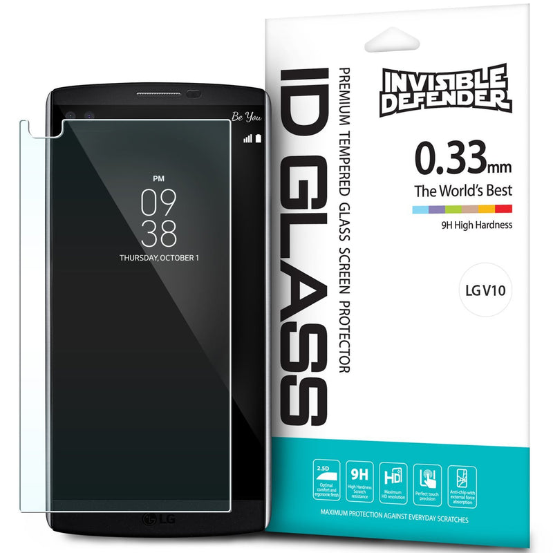 LG V10, Ringke® [INVISIBLE DEFENDER] [0.33mm] Tempered Glass Screen Protector