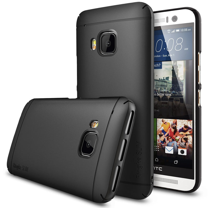 htc one m9 case ringke slim case lightweight thin superior coaring pc hard case black