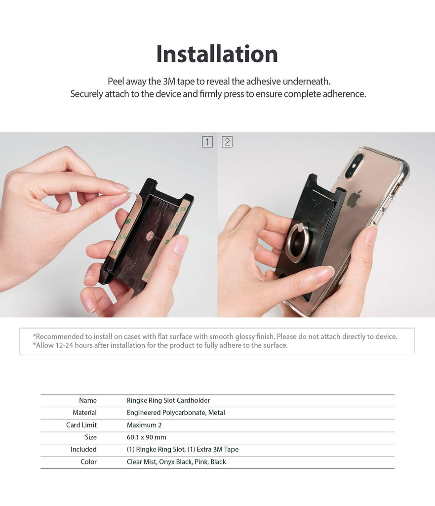 ringke ring slot card holder installation guide