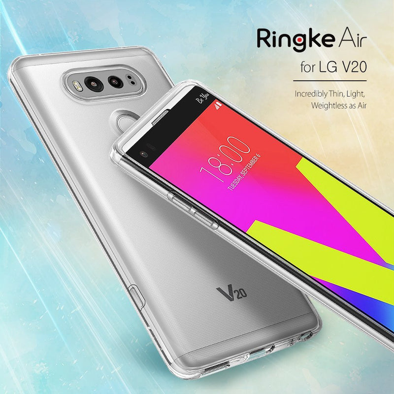 LG V20 Case, Ringke® [AIR] Extreme Lightweight & Thin Transparent Soft Flexible TPU Case