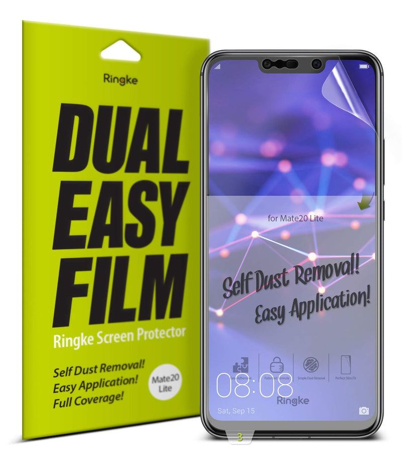 huawei mate 20 lite dual easy full cover screen protector 2 pack