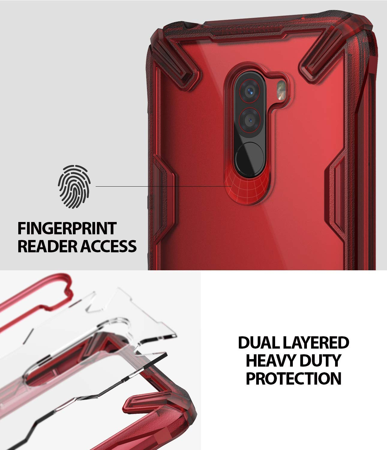 fingerprint reader access with dual layered heavy protection