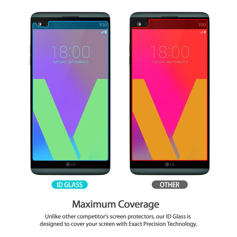 lg v20 ringke invisible defender tempered glass screen protector