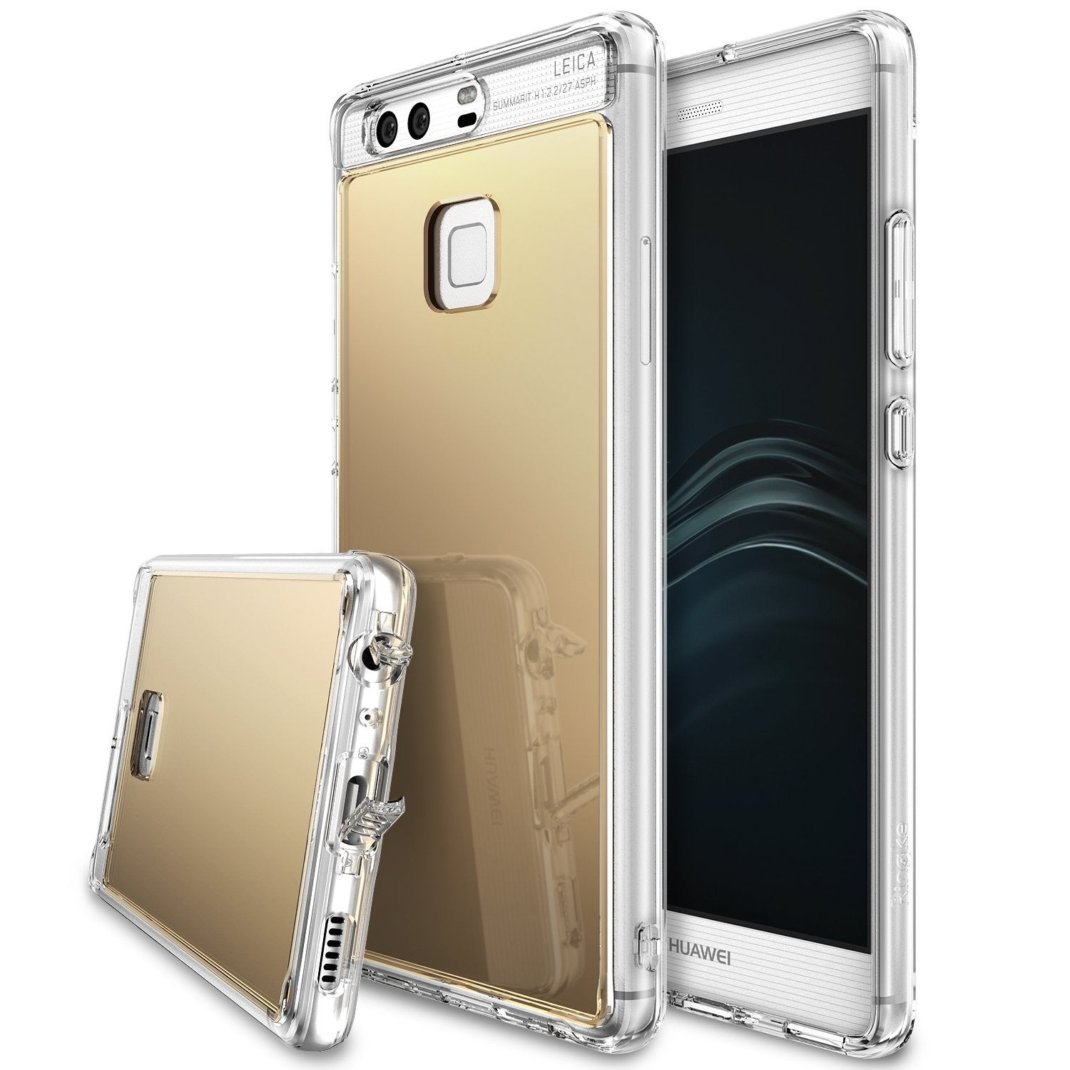 fusion case mirror case huawei mate 8 bright reflection radiant luxury mirror case rose gold