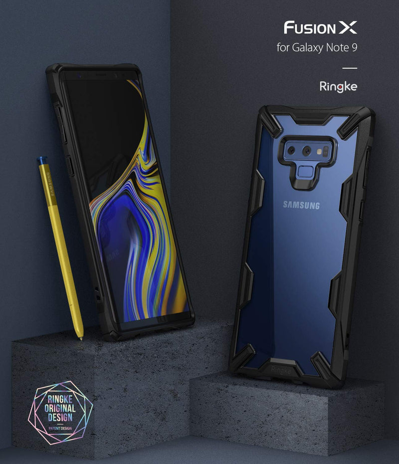 galaxy note 9 fusion-x case navy
