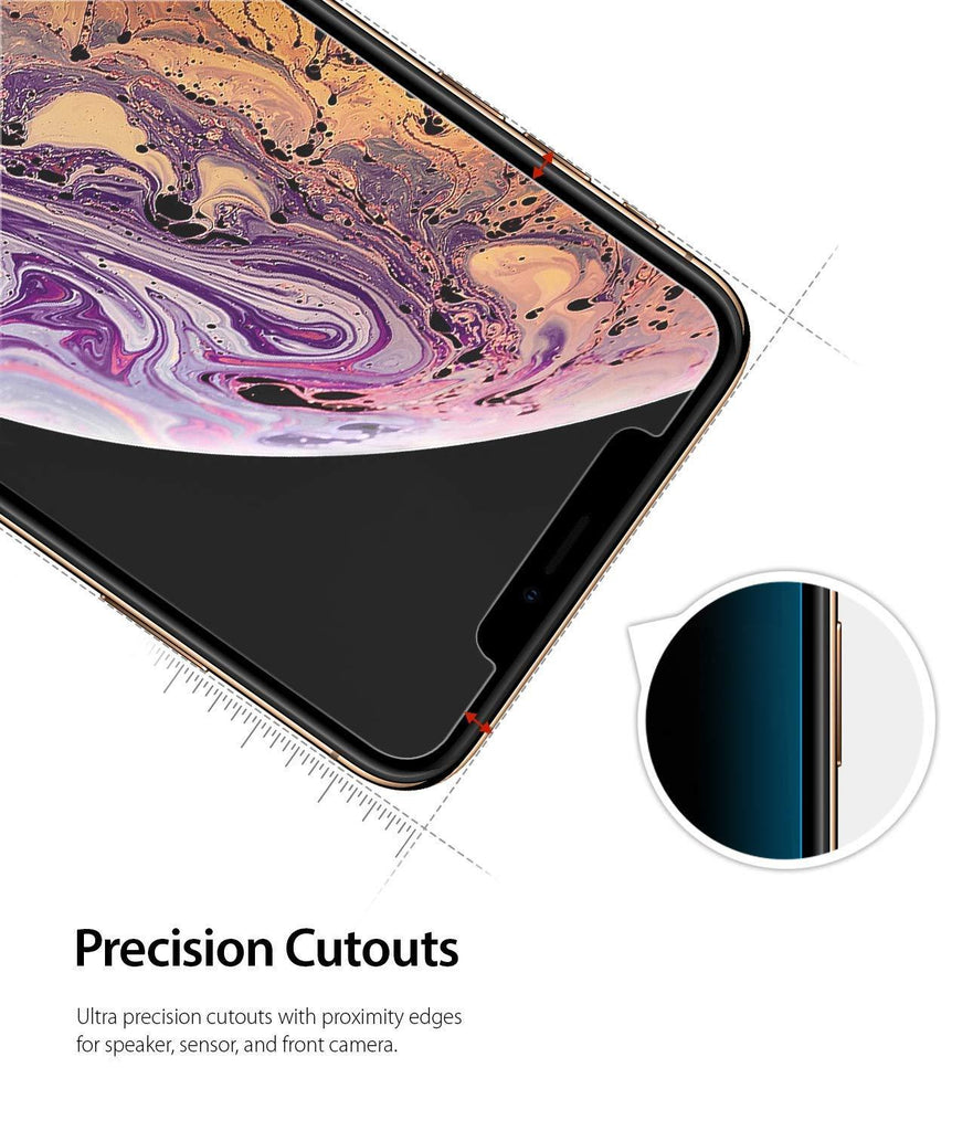 ringke invisible defender for iphone xs tempered glass screen protector protection cutout