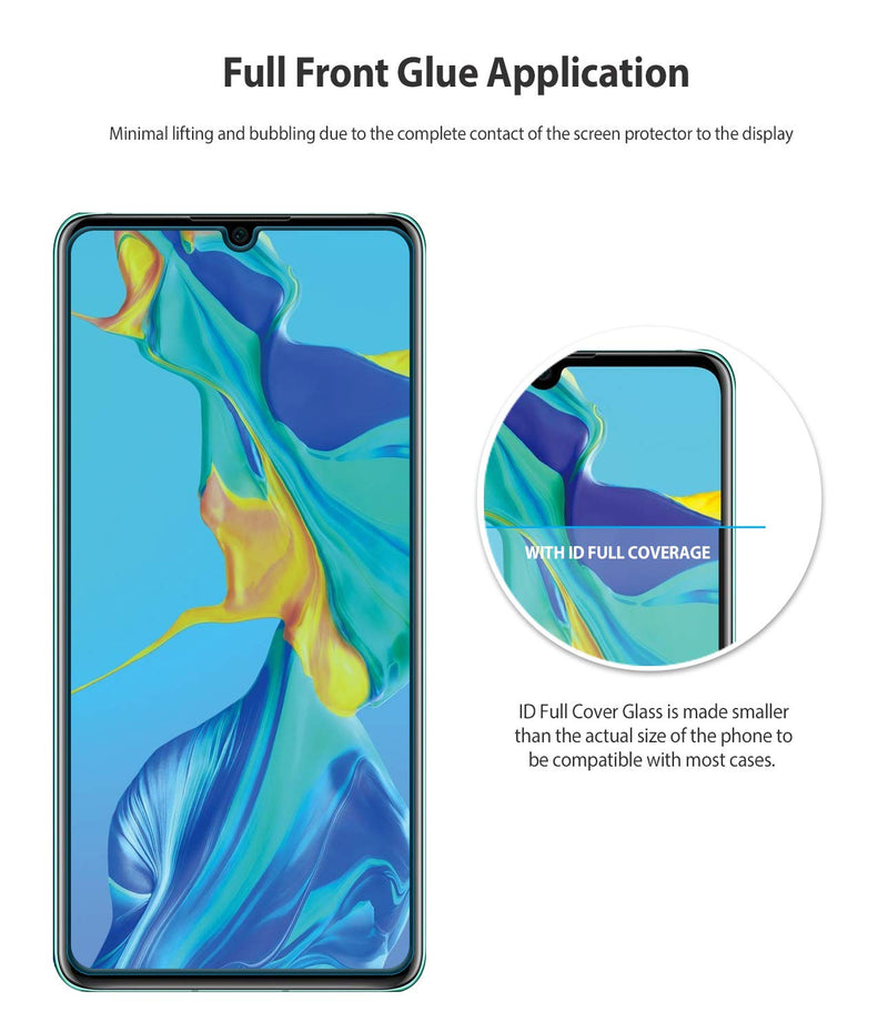 Huawei P30 [INVISIBLE DEFENDER GLASS] Full Coverage Tempered Glass