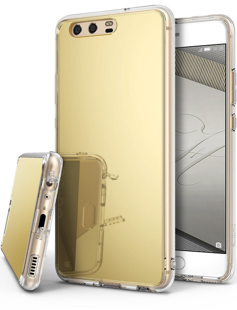 huawei p10 case ringke fusion case mirror case bright reflection radiant luxury mirror case royal gold
