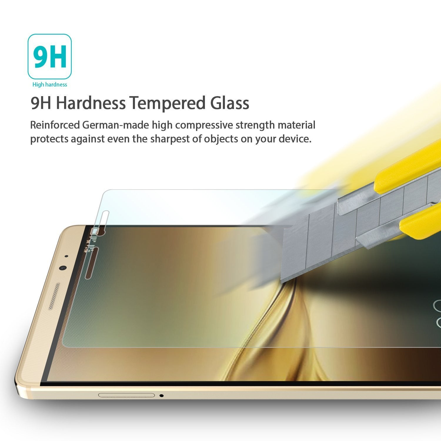 9h hardness tempered glass