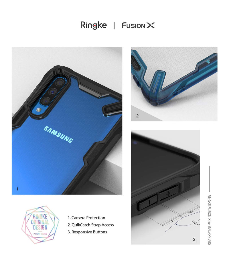 galaxy a50 fusion-x case space blue