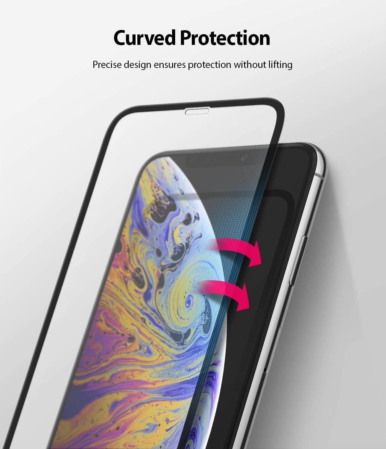 iphone xs invisible defender full coverage tempered glass 1 pack