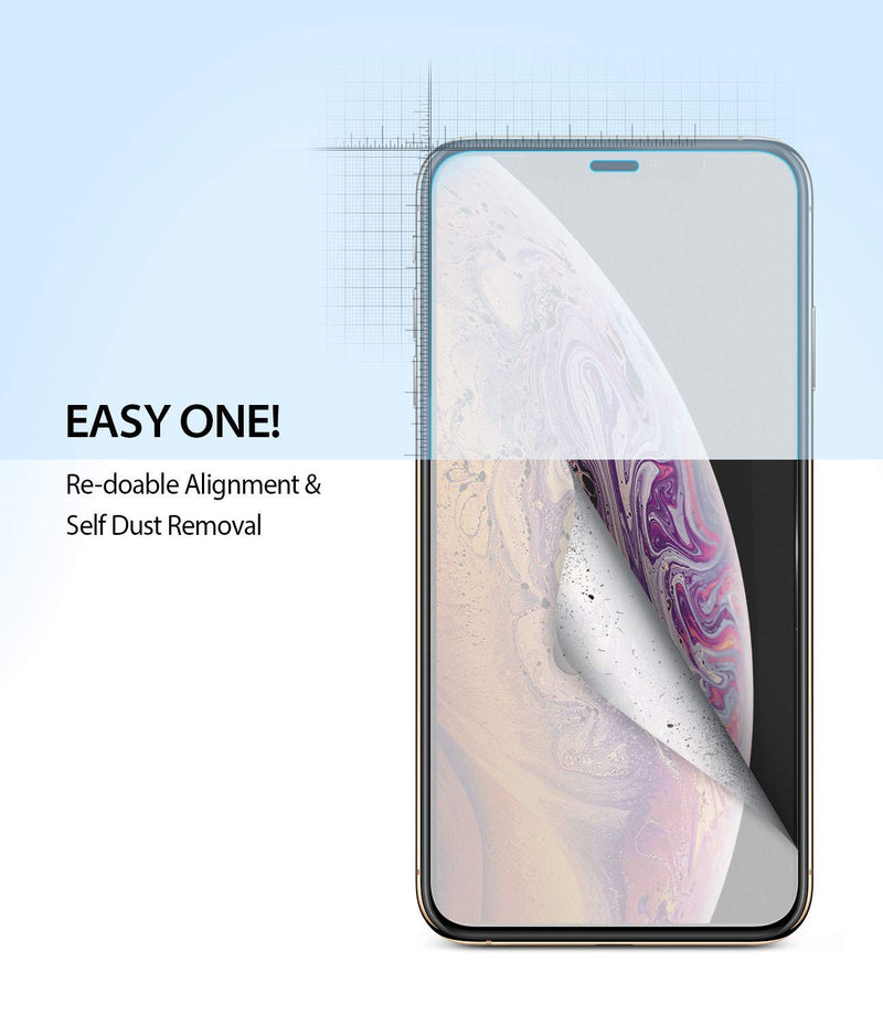 iPhone XS Max [Dual Easy Full Coverage] Screen Protector [2 Pack]