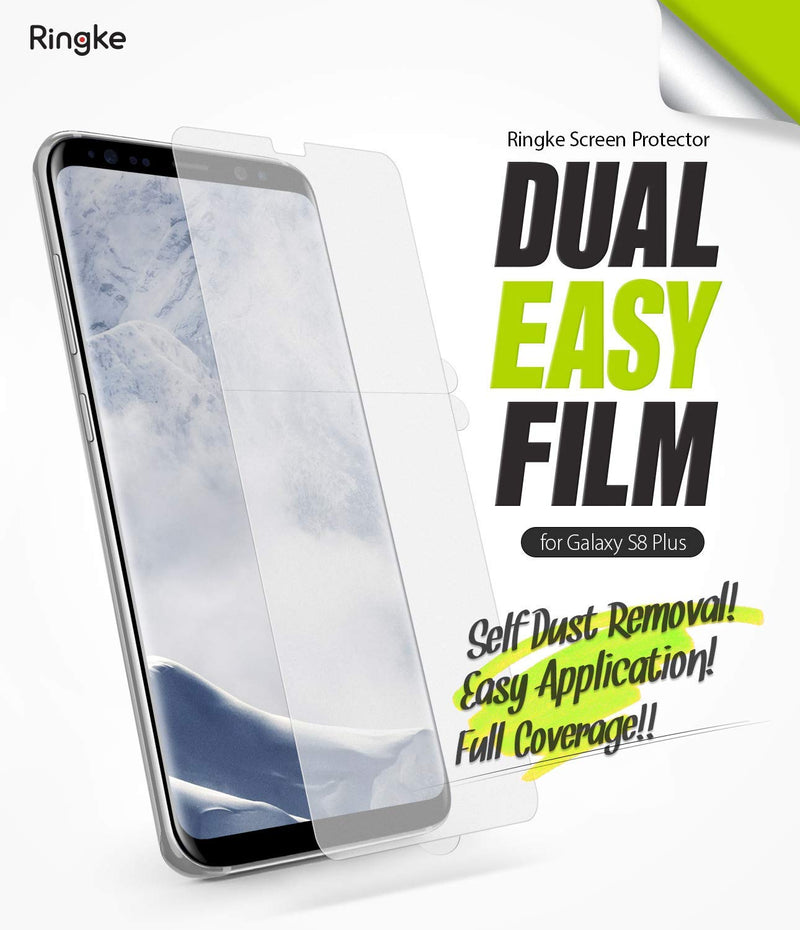 galaxy s8 plus dual easy full cover screen protector 2 pack