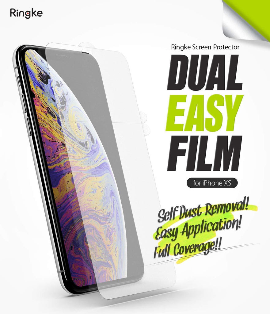 ringke dual easy film for iphone xs screen protector main