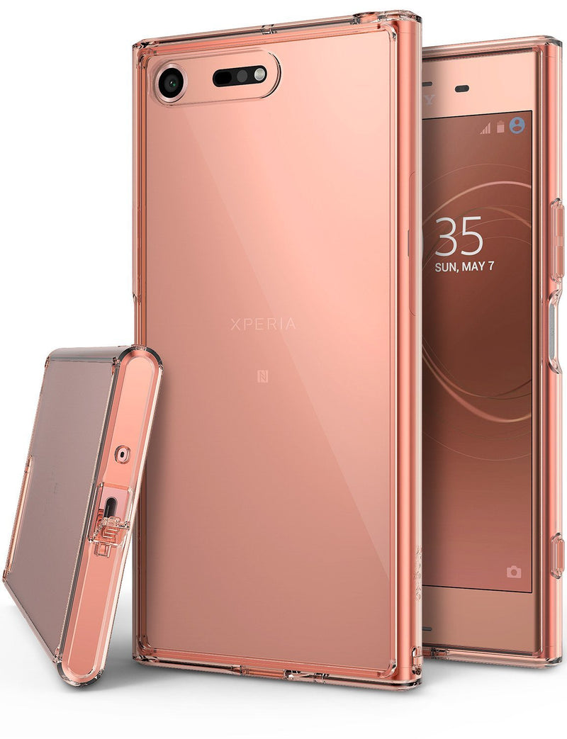 sony xperia xz premium case ringke fusion case crystal clear pc back tpu bumper case rose gold crystal