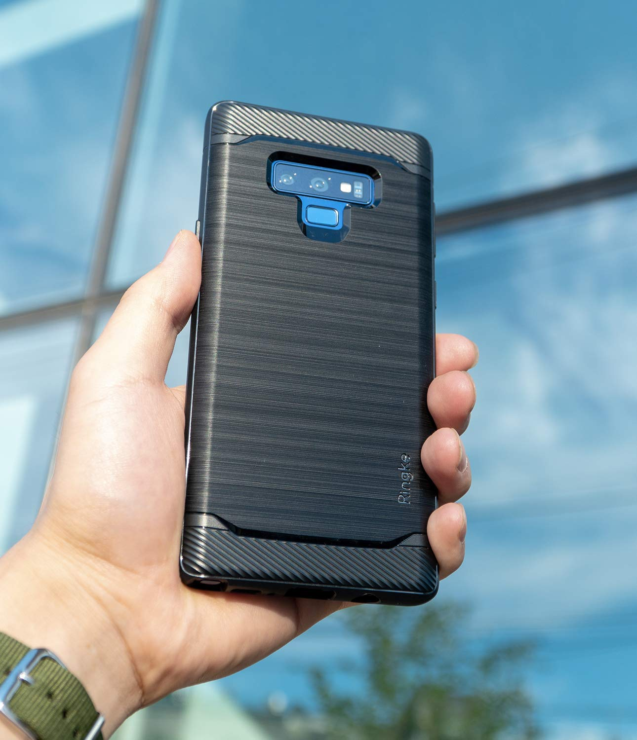 galaxy note 9 case ringke onyx black