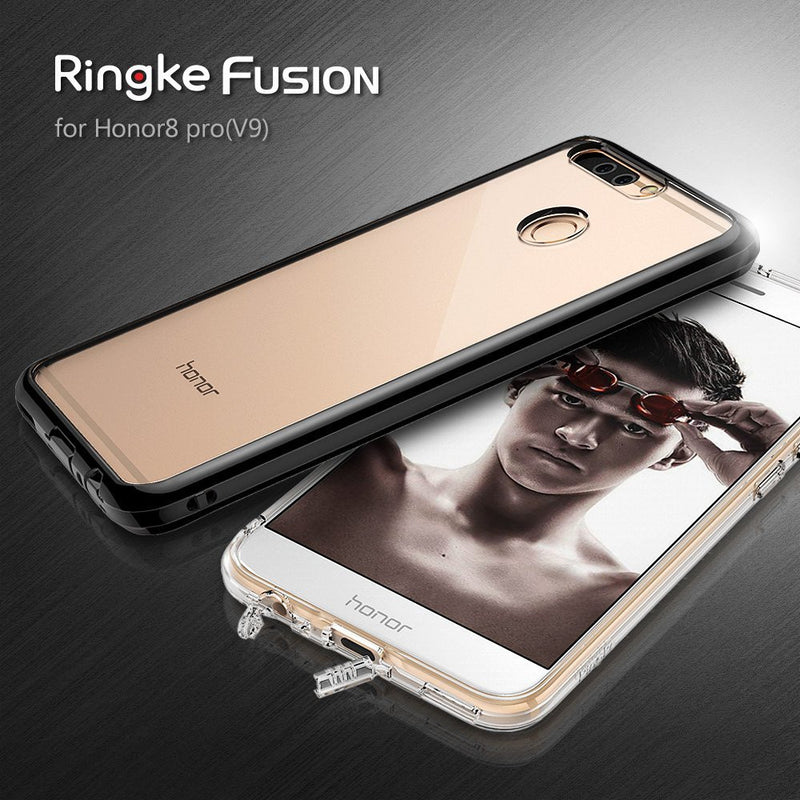 Huawei Honor 8 Pro / Honor V9 Case, Ringke® [FUSION] Crystal Clear PC Back TPU Bumper Case