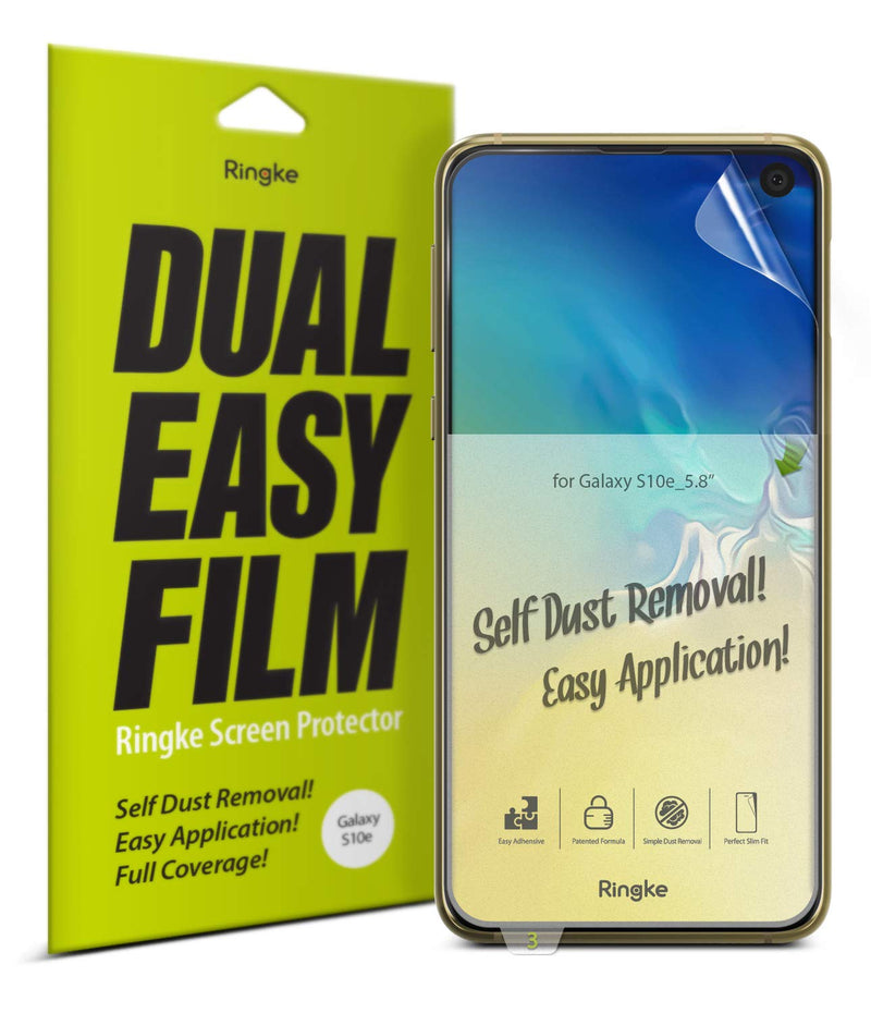 galaxy s10e dual easy full cover screen protector 2 pack