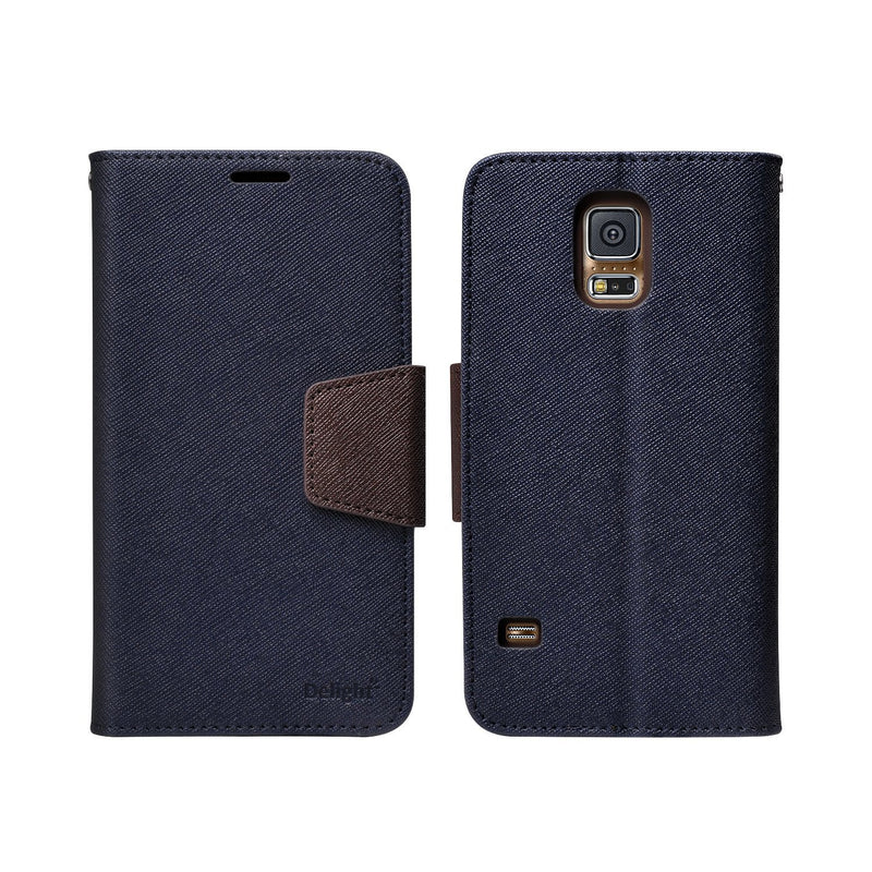 Galaxy S5 Case, Ringke® [DELIGHT] Premium PU Saffiano Leather Standing View Diary Case