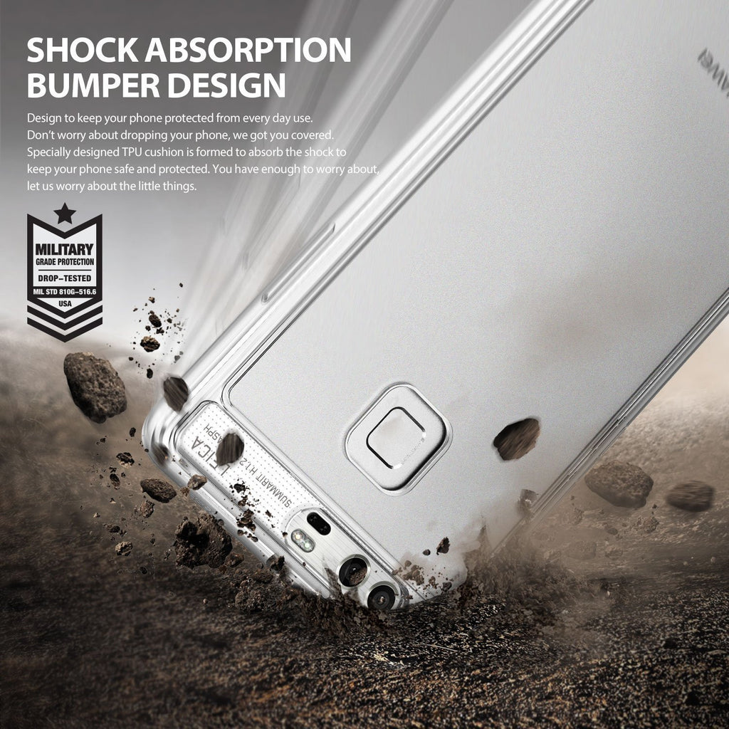 shock absorption bumper design with military grade drop protection