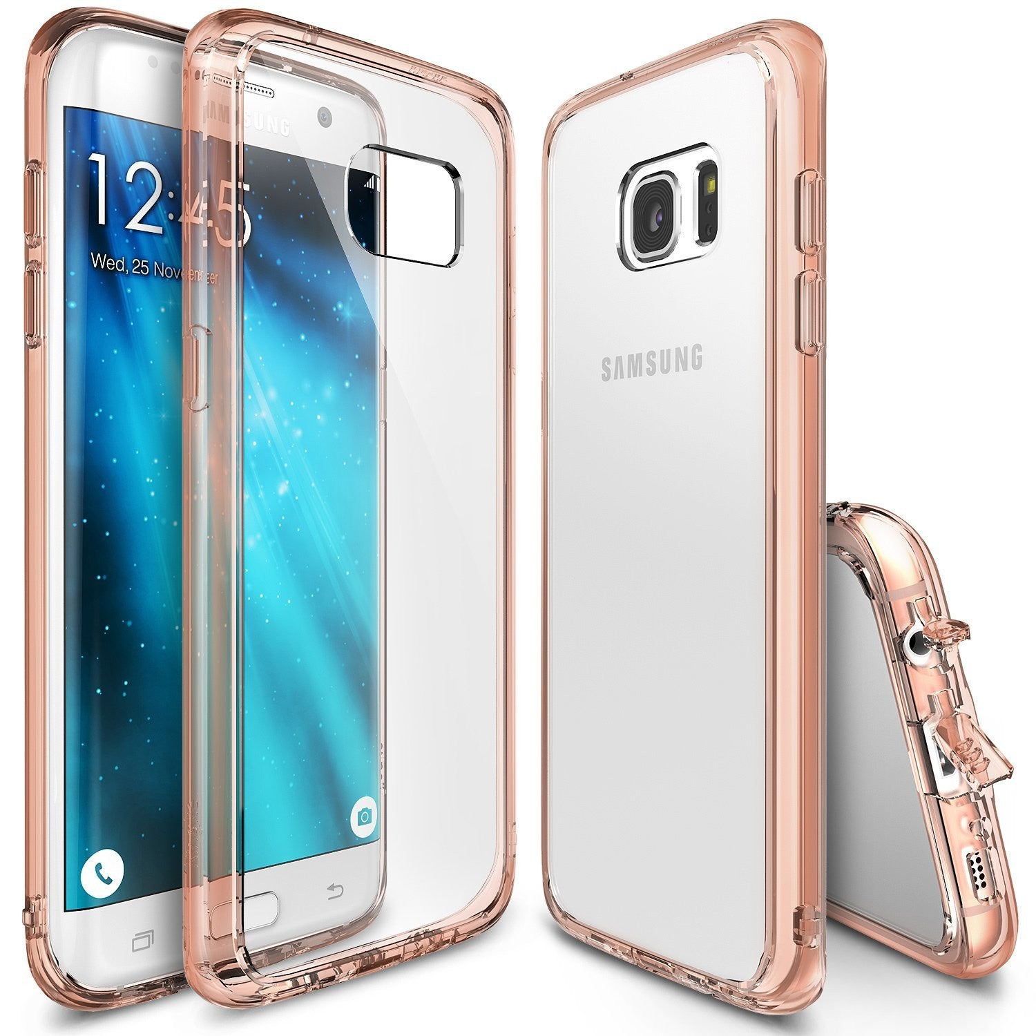 Galaxy S7 Edge Case, Ringke®[FUSION] Tough PC Back TPU Bumper Case