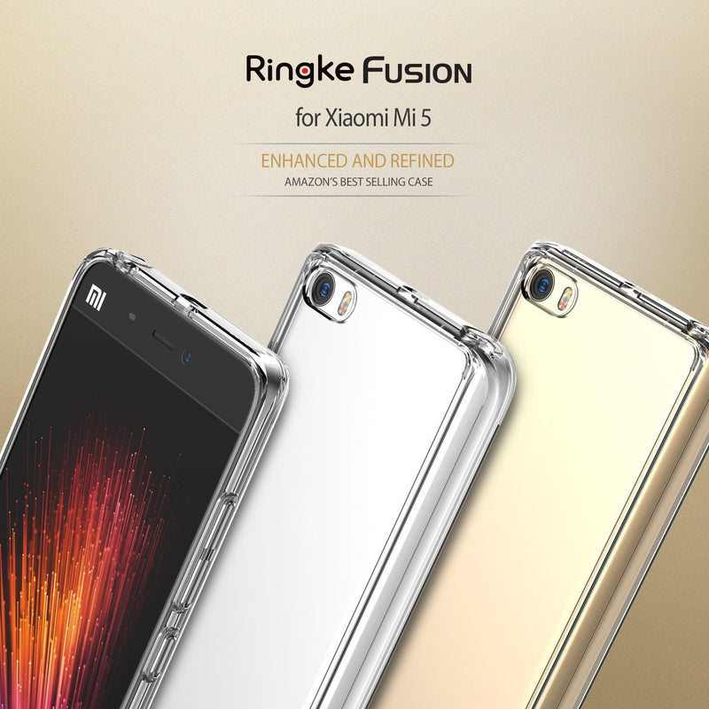 Xiaomi Mi 5 Case, Ringke® [FUSION] Crystal Clear PC Back TPU Bumper Case