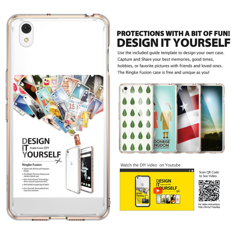 oneplus x case, ringke fusion case crystal clear pc back tpu bumper case