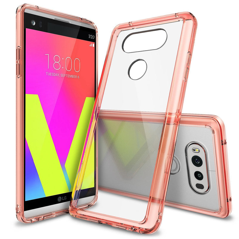 LG V20 Case, Ringke® [FUSION] Crystal Clear PC Back TPU Bumper Case