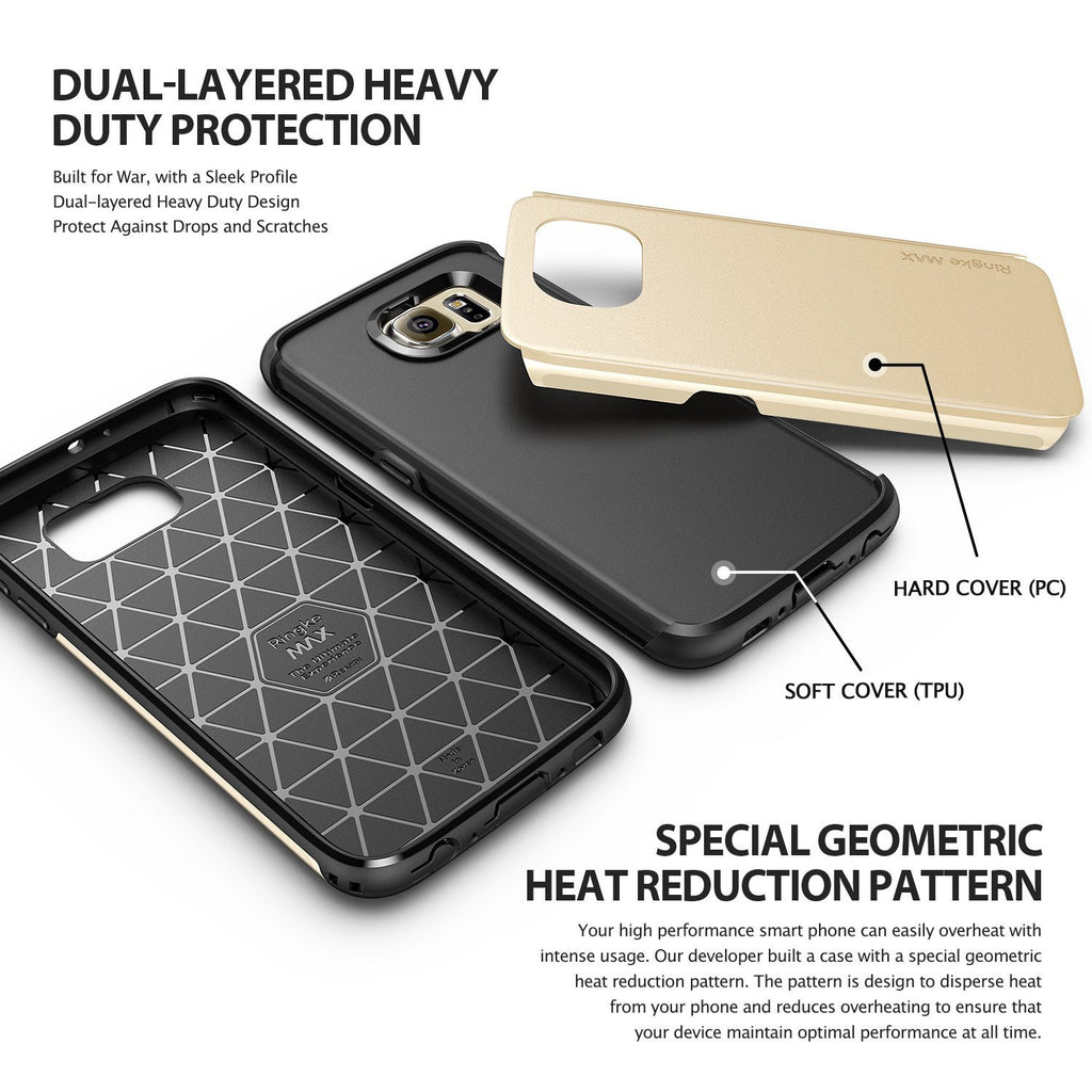 ringke max dual layered heavy duty protective cover case for galaxy s6