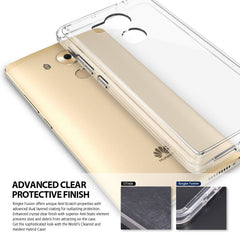 Huawei Mate 8 Case, Ringke®[FUSION] Crystal Clear PC Back TPU Bumper Case-Rose Gold