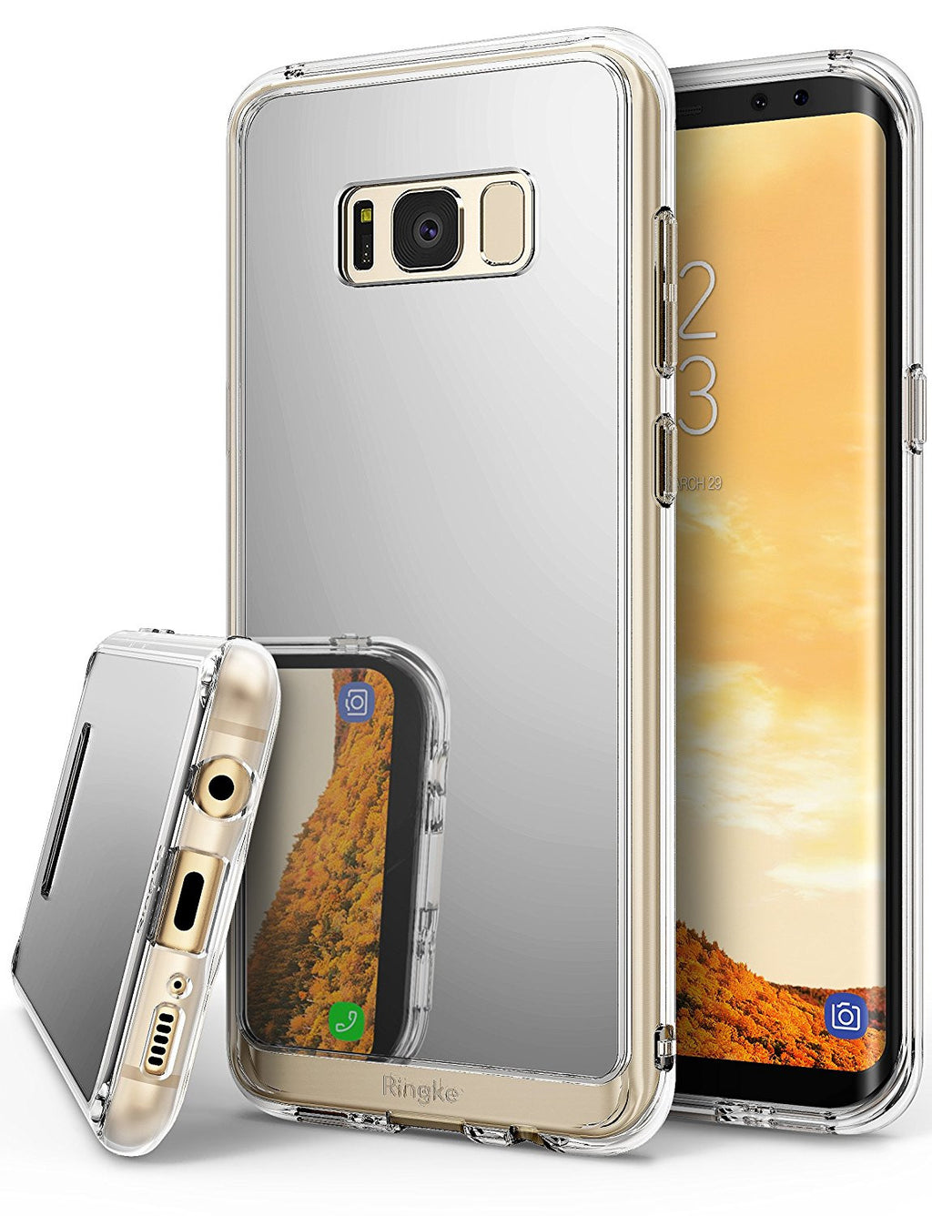 samsung galaxy s8 case ringke fusion case mirror case bright reflection radiant luxury mirror case silver