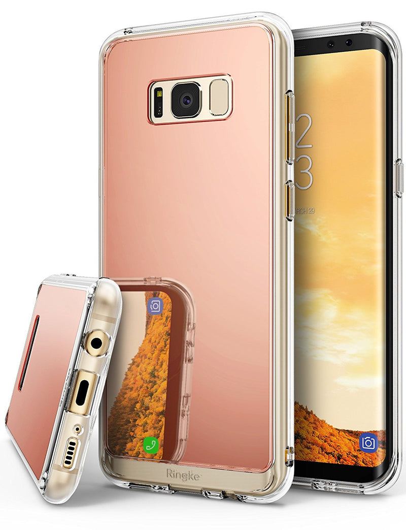 samsung galaxy s8 case ringke fusion case mirror case bright reflection radiant luxury mirror case rose gold
