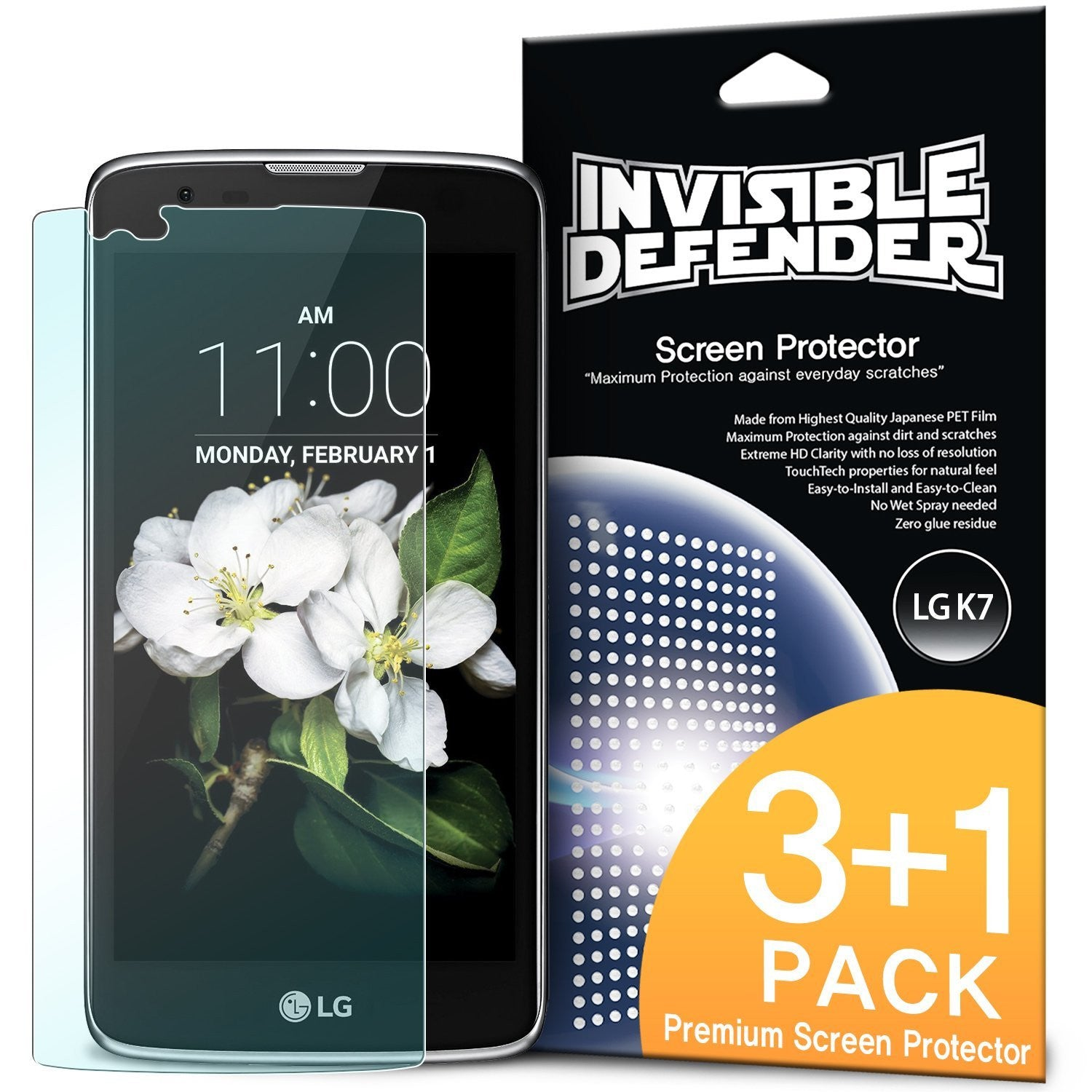 lg v10, ringke invisible defender 3+1 pack screen protector