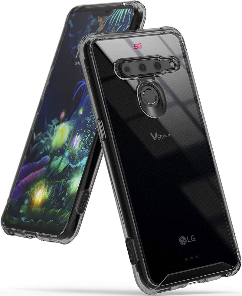 "Ringke Fusion Designed for LG V50 ThinQ 5G Case Protective Cover 6.4"" (2019) Smoke Black"