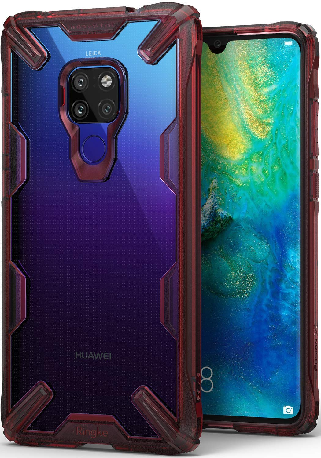 huawei mate 20 fusion-x case ruby red