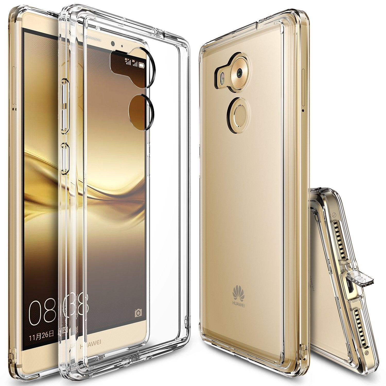 Huawei Mate 8 Case, Ringke® [FUSION] Crystal Clear PC Back TPU Bumper Case