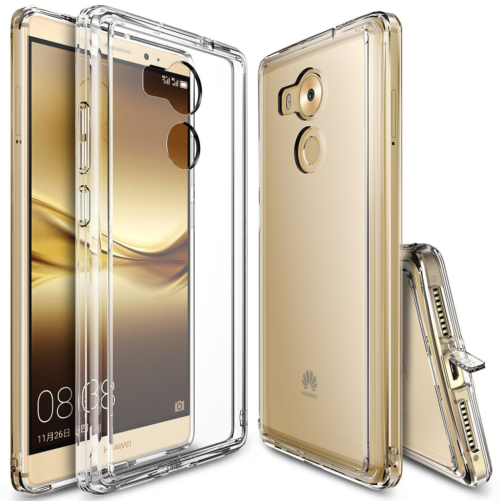huawei mate 8 case, ringke fusion case crystal clear pc back tpu bumper case