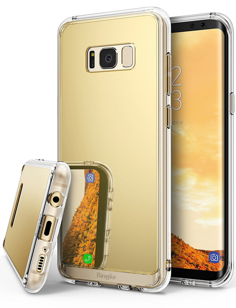 samsung galaxy s8 case ringke fusion case mirror case bright reflection radiant luxury mirror case royal gold