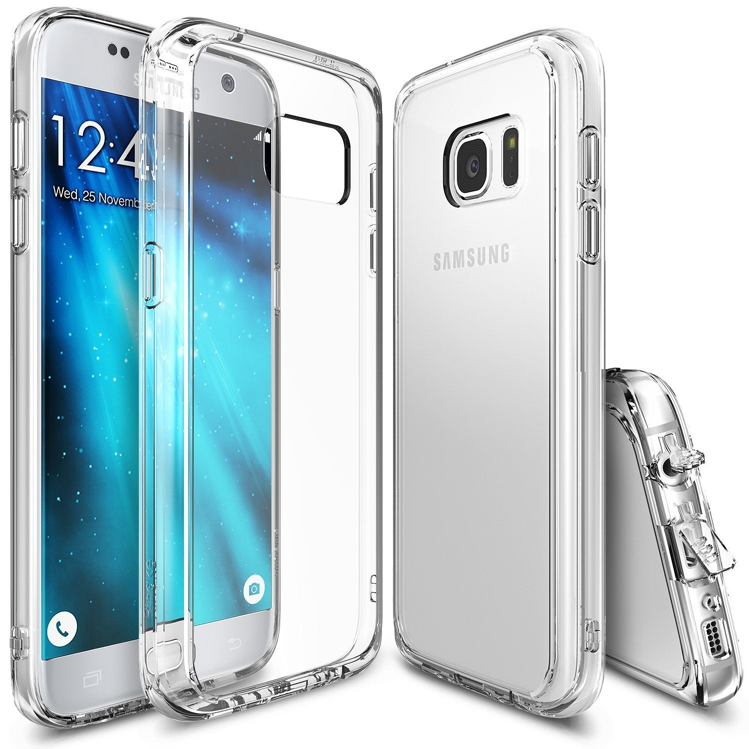 Galaxy S7 Case, Ringke® [FUSION] Crystal Clear PC Back TPU Bumper Case