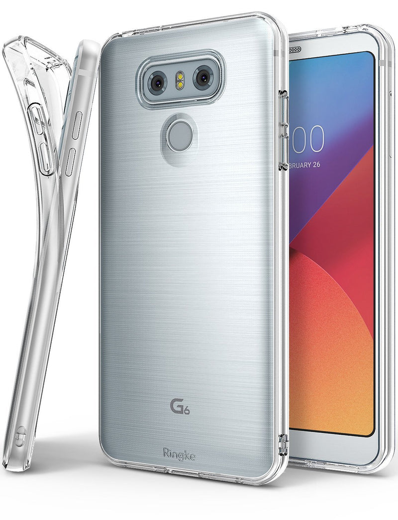 LG G6 Case, Ringke® [AIR] Extreme Lightweight & Thin Transparent Soft Flexible TPU Case