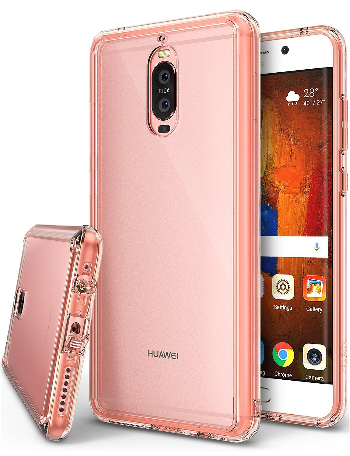 huawei mate 9 pro case ringke fusion case crystal clear pc back tpu bumper case rose gold crystal