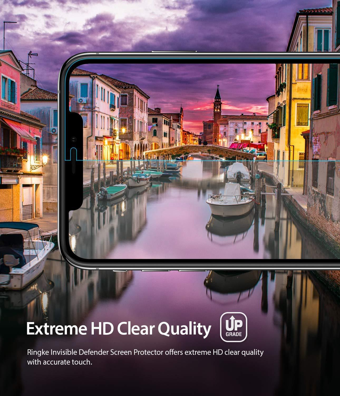 ringke dual easy film for iphone xs screen protector hd clear
