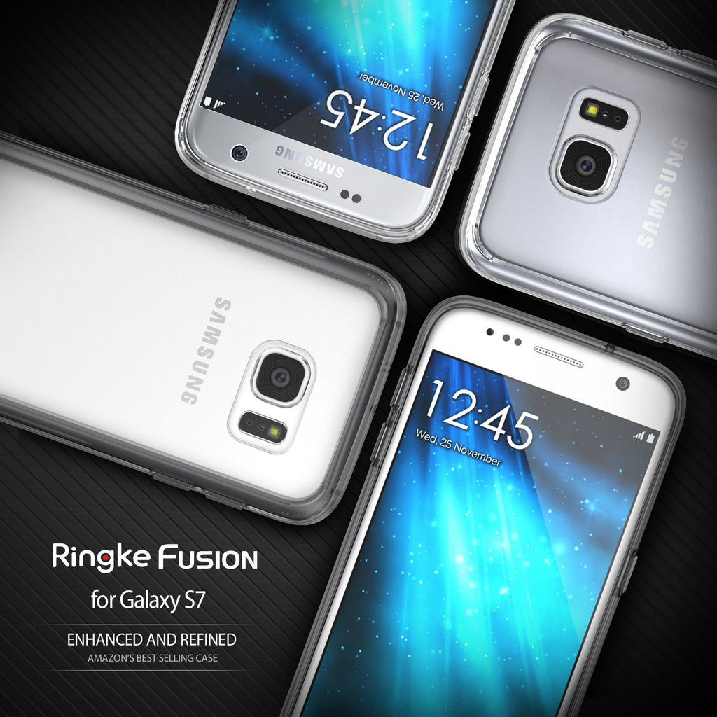 ringke fusion clear transparent hard back cover case for galaxy s7