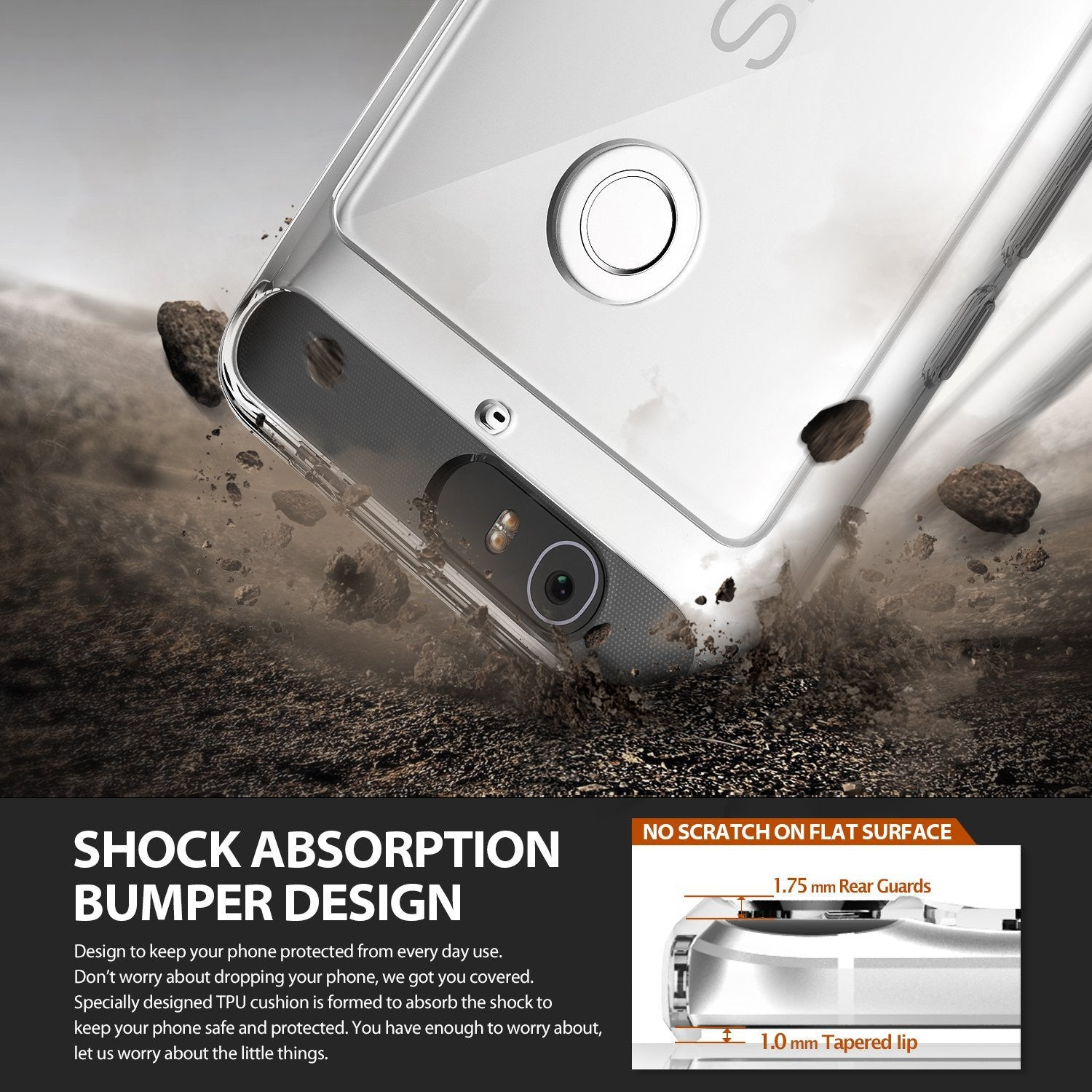 ringke fusion clear transparent hard back case cover for google nexus 6p main shockproof protection