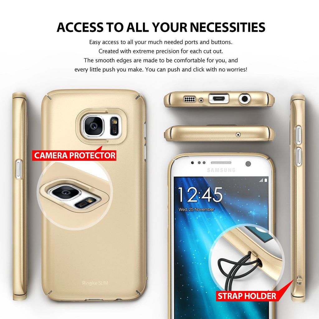 ringke slim premium pc hard cover case for galaxy s7