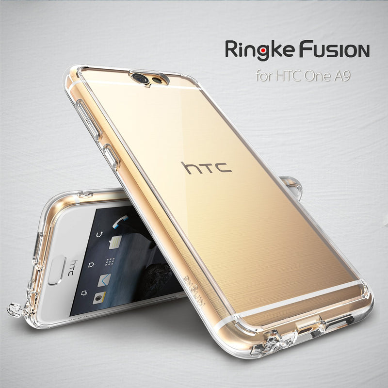 HTC One A9 Case, Ringke® [FUSION] Crystal Clear PC Back TPU Bumper Case