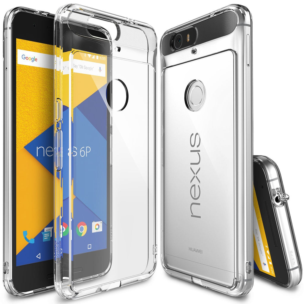 ringke fusion clear transparent hard back case cover for google nexus 6p main clear