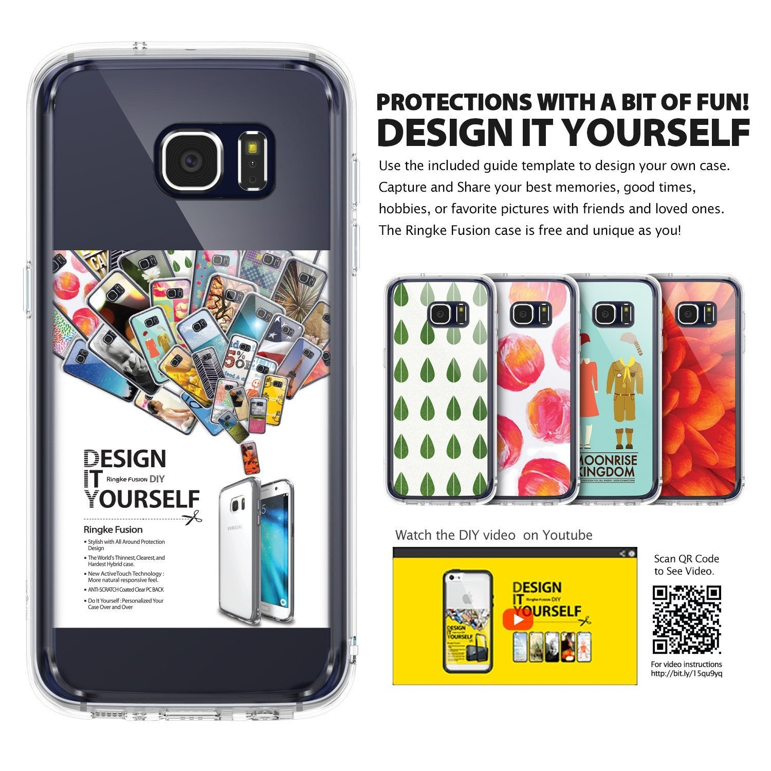 galaxy s7 edge fusionringke fusion clear transparent back tpu frame cover case for galaxy s7 edge